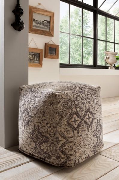 Vintage-Sitzhocker GINNI, grau