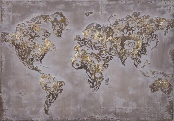 Wandbild Goldene Welt
