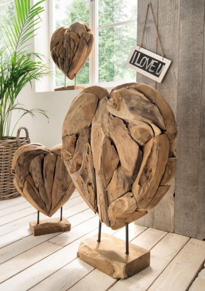 Herzen / Deko-Objekte auf Ständer, 3er Set