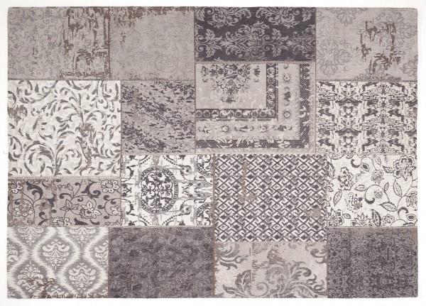 Vintage-Orient-Teppich PATCHWORK, grau