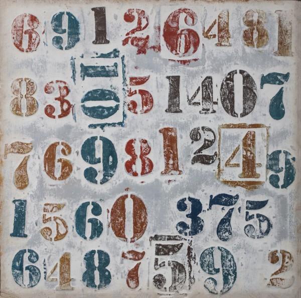 Struktur-Wandbild mit Rahmen Zahlen