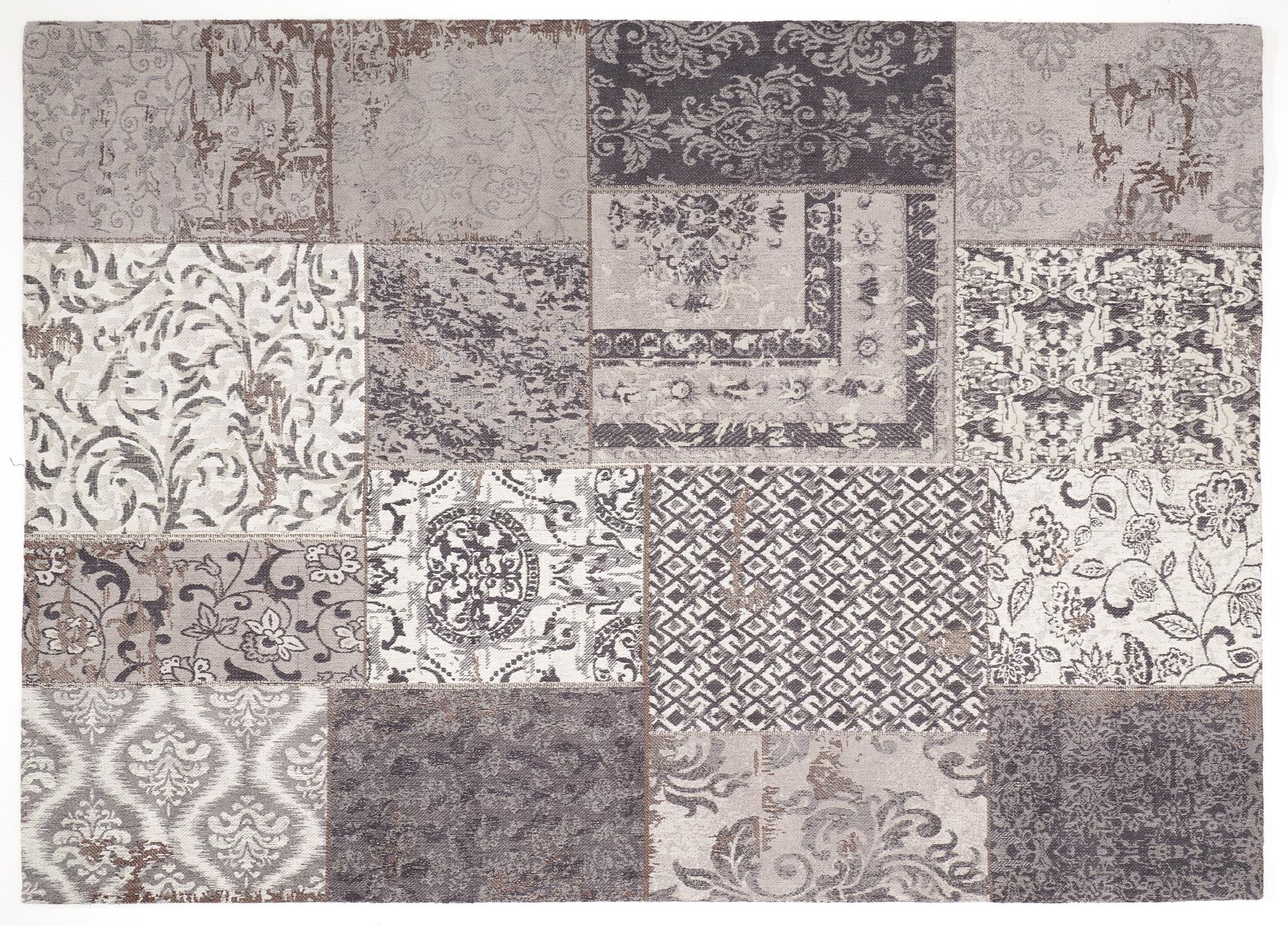 vintage orient teppich patchwork 170 x 240 cm grau coole deko. Black Bedroom Furniture Sets. Home Design Ideas