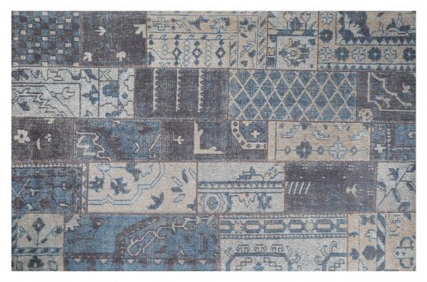 Vintage-Teppich TURKEY, 200 x 300 cm, blau/grau