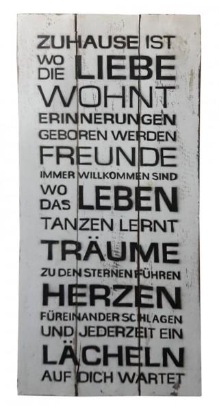 Deko-Holzschild mit Spruch BOARD No. 2, handgefertigt