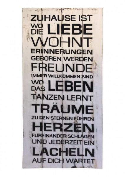Deko-Holzschild mit Spruch BOARD No. 3, handgefertigt