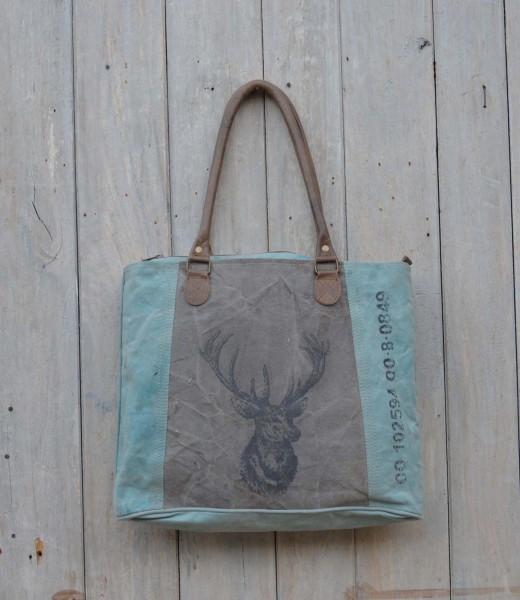Shopper / Vintage-Tasche HIRSCH