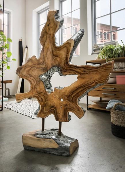 Unikat-Dekorationsobjekt mit Fuß, handgefertigt