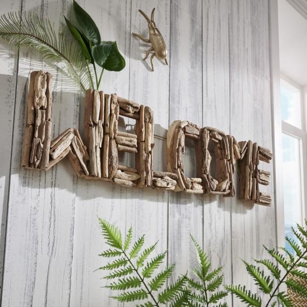 Unikat-Wanddekoration WELCOME, handgefertigt, zum Hängen