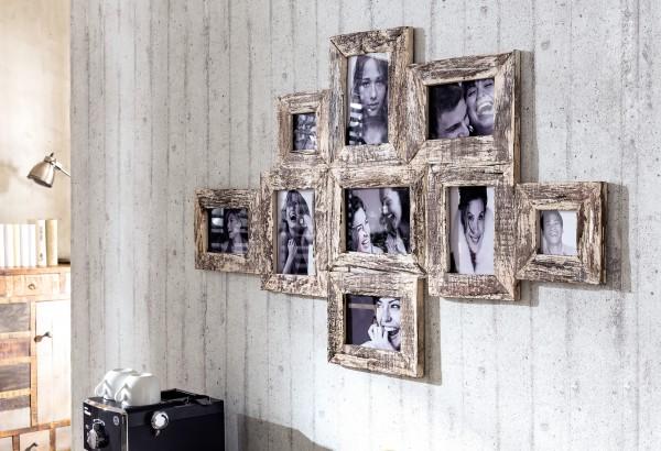 Bilderrahmen für 9 Bilder in verschiedenen Formaten
