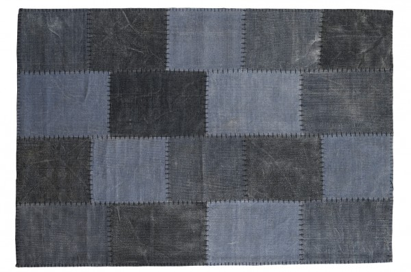 Vintage-Teppich STONE PATCH, blau