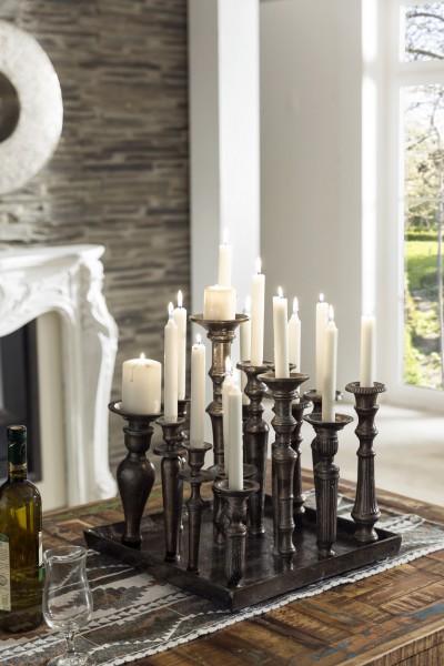 Kerzenhalter mit Teller für 16 Kerzen