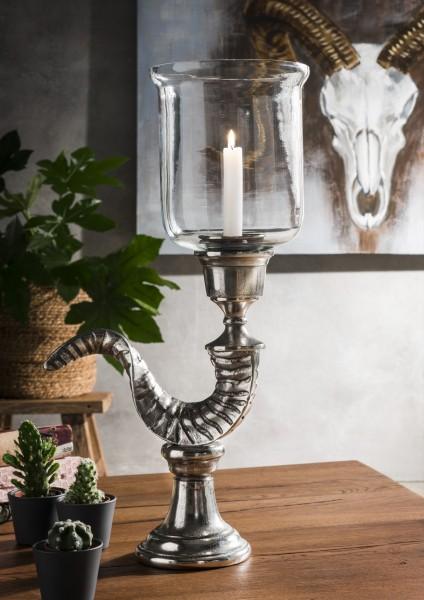 Windlicht / Kerzenständer WIDDERHORN