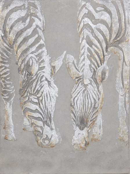 Struktur-Wandbild Zebra Nr. I