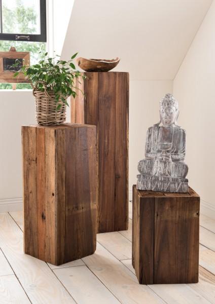 Blumen-Säule / Holzsäule, in verschiedenen Größen