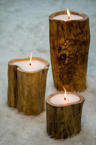 Baum-Kerzen im 3er-Set
