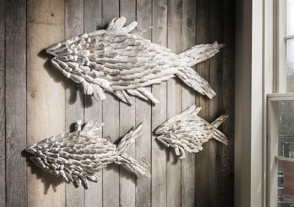 Wanddekoration DREI FISCHE