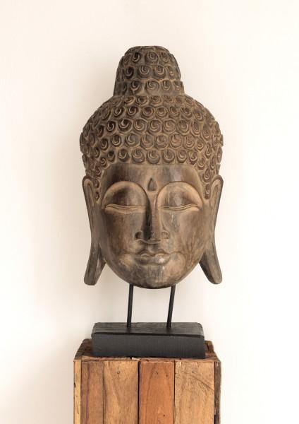 Buddha-Maske / Deko-Objekt auf Ständer