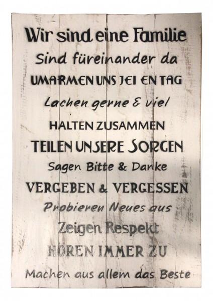 Deko-Holzschild mit Spruch BOARD No. 5, handgefertigt