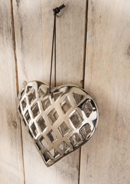 Herz / Deko-Objekt zum Hängen, Aluminium