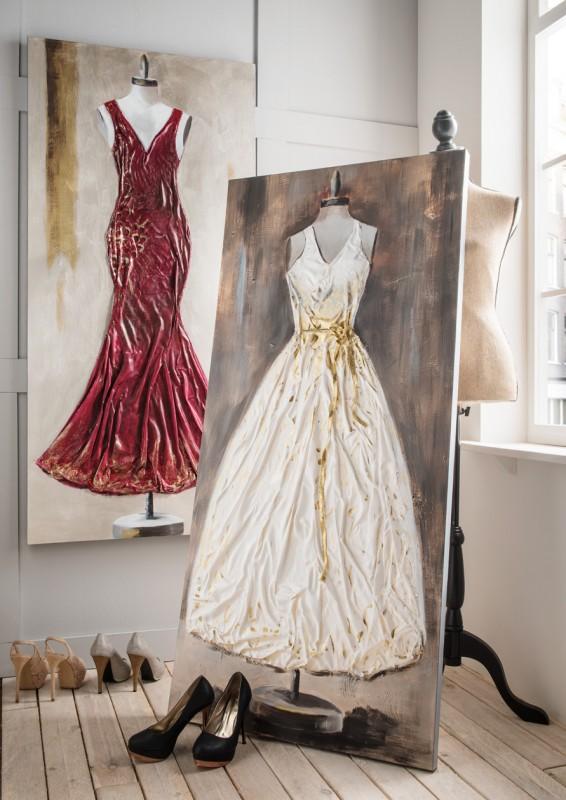 Wandbild Kleid