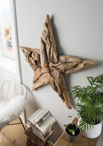 Wand-Dekoration STERN, handgefertigt